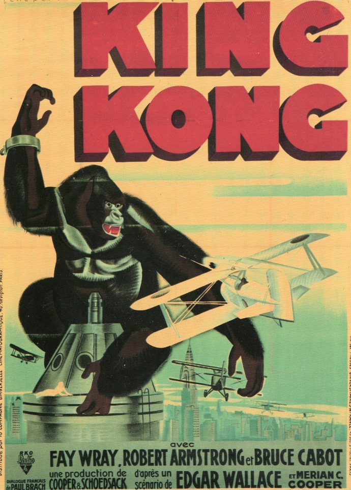 Αποτέλεσμα εικόνας για 'KING KONG' (1933) POSTER, FRENCH